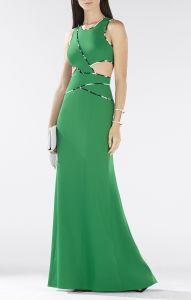 BCBG Greencutout dress